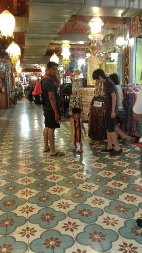 Traditional designed tiles greeting visitors of Central Market